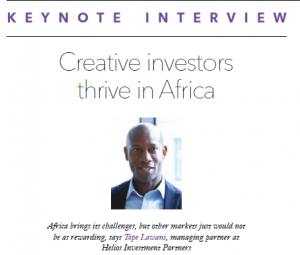 PEI keynote interview: Creative investors thrive in Africa