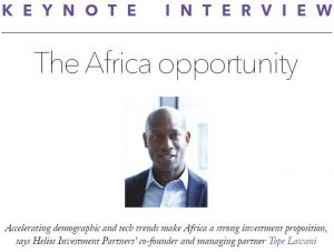 PEI keynote interview: Accelerating demographic and tech trends make Africa a strong investment proposition